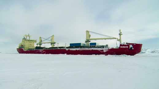 First arctic cargo shipped through the Northwest Passage