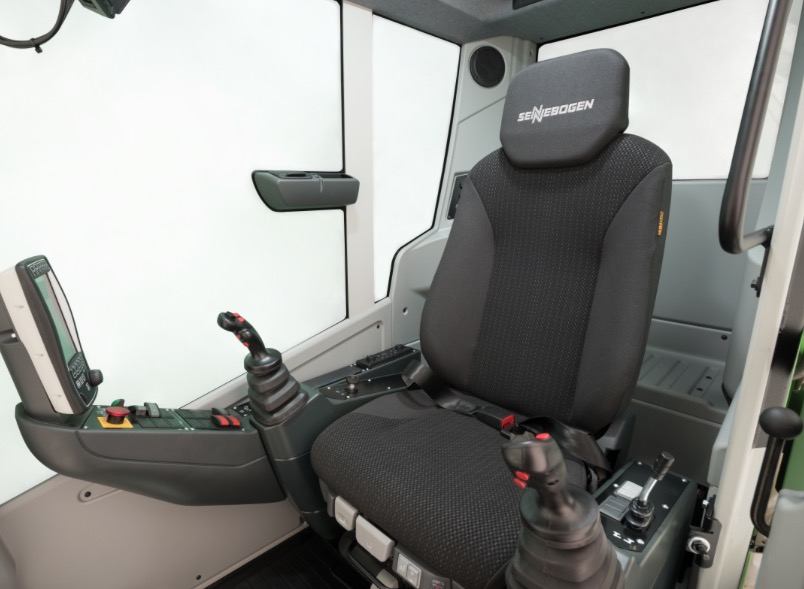 Sennebogen's signature maxcab now offers even more comfort stanley, ncs