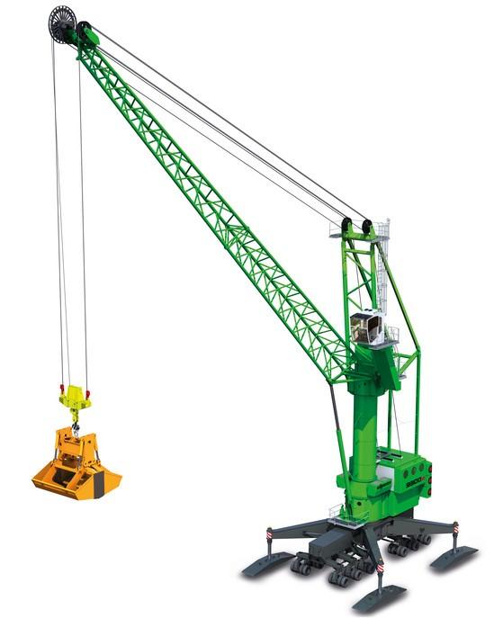 Port mobile crane 9300 E from SENNEBOGEN
