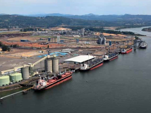Tonnage on track for another record-breaking year at the Port of Longview