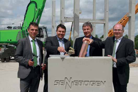 SENNEBOGEN Maschinentechnik GmbH lays the cornerstone for new workshop in Wackersdorf