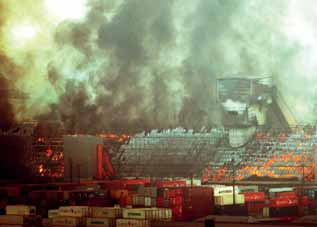 Devastating sugar fire at Brazil's Port of Santos