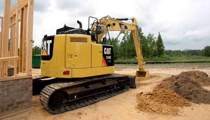 New CAT® 314E L CR excavator: compact, productive, and fuel efficient