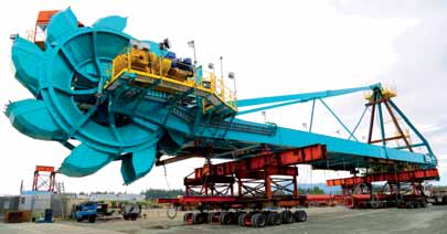 Mammoth move of EMS-Tech designed & constructed stacker/reclaimers
