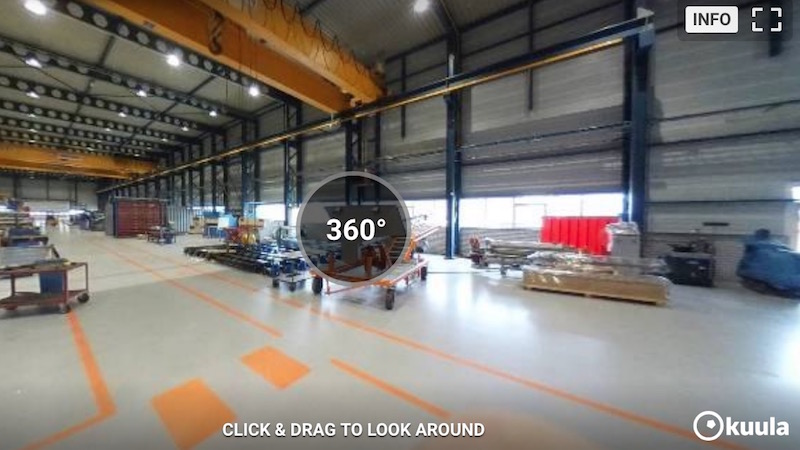 Van Beek uses 360° camera to ensure more efficient production process