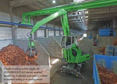 Mobile electric material handler combines efficiency and flexibility for indoor use