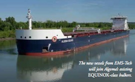 EMS-Tech to supply three 'Equinox Class' self-unloaders to Algoma Central Corporation