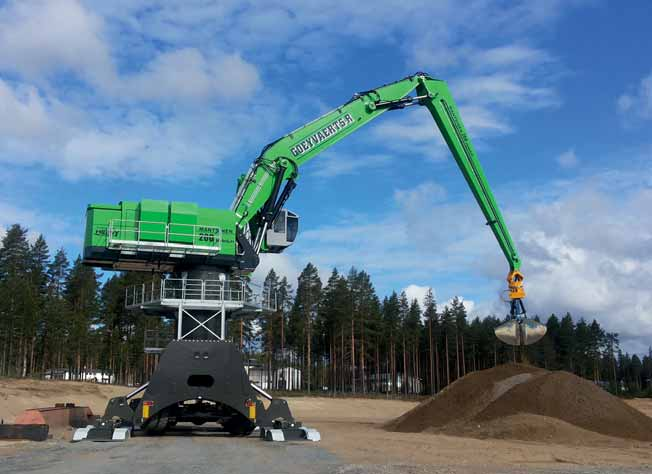Mantsinen 200 M HybriLift®— world's strongest hydraulic material handler