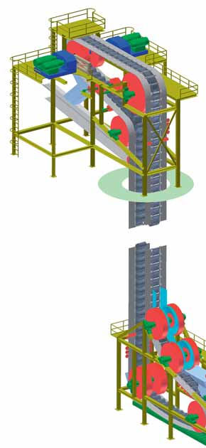 Overcoming limits in vertical conveying